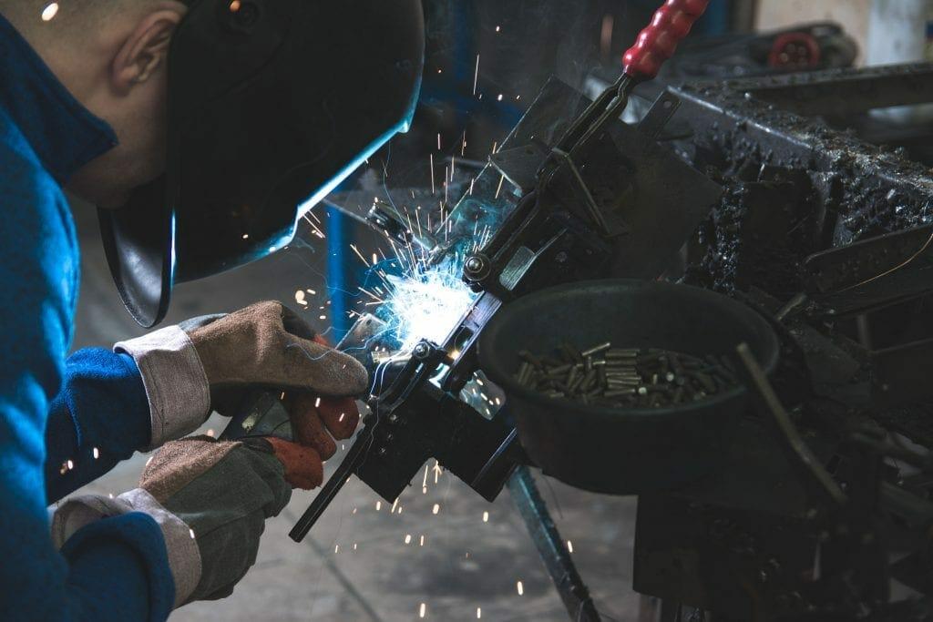 Man welding some metal