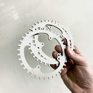 Cold-rolled steel engine trigger wheel being held