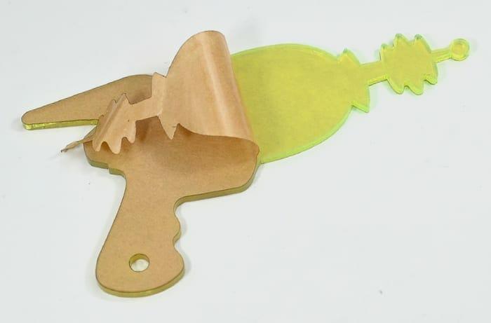 paper peel acrylic